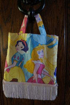 Mini tote bag made with Disney Princess by TheCraftyPhoenixLady, £3.50