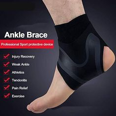 Adjustable Elastic Ankle Support - Womanly, Sport, fitness,and everything Heel Pain, Foot Pain, Weak Ankles, Stress Fracture, Ankle Joint, Sprained Ankle, Plantar Fasciitis, Injury Prevention, Post Workout