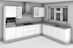 Small Kitchen Makeover L Shaped Kitchen Design - The majority of people's kitchen designs fall within 1 of the 6 kitchen designs that are shown. Apartment Kitchen, Apartment Design, Apartment Therapy, Smart Kitchen, Kitchen Modern, 10x10 Kitchen, Minimalist Kitchen, L Shape Kitchen Layout, L Shaped Kitchen Designs