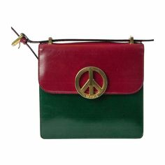 c795ac4526369 View this item and discover similar structured shoulder bags for sale at -  Beautiful and very rare Moschino vintage bag from the Late Peace Love theme  Made ...