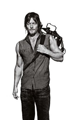 Norman Reedus as bad boy Daryl in The Walking Dead