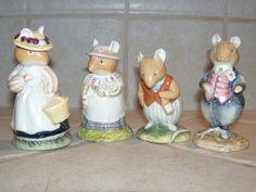 Set of 4 Royal Doulton Brambly Hedge Mice Figurines Basil Dusty Lady Old Mrs | eBay