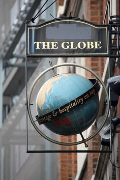 "Pub Signs :: The Globe -  London England Pub.jpg picture...""where heritage and hospitality are on tap"" by RobotNine - Photobucket"