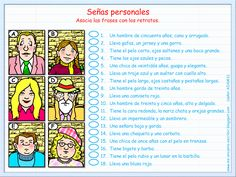 Me encanta escribir en español: Ejercicio: Descripción de retratos.