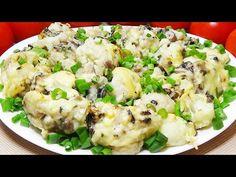 Τόσο νόστιμο που μαγειρεύω κάθε μέρα! όσο καλό που δεν μένει τίποτα στο τραπέζι! - YouTube Vegan, Potato Salad, Cauliflower, Fries, Side Dishes, Healthy Recipes, Broccoli, Vegetables, Plus Rien