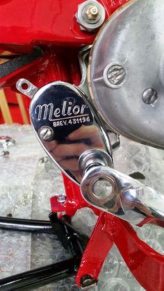 Moto Guzzi Motoleggera 65 in restauro completo , dettaglio selettore cambio