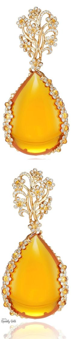 GABRIELLE'S AMAZING FANTASY CLOSET | Chopard Citrine and Diamond Earrings