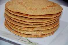 *** Panquecas de iogurte grego saudável *** - TO EAT - Greek Yogurt Pancakes, Tasty Pancakes, Banana Pancakes, Crepes, Croissants, Coco, Cooking Time, Cake Recipes, Food And Drink