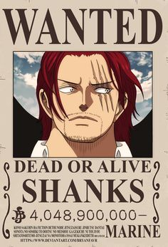 'Shanks bounty Poster' Poster by One-piece-World Ace One Piece, One Piece Figure, Poster One Piece, One Piece Chapter, Zoro One Piece, One Piece World, Poster Poster, Manga Anime, Anime One