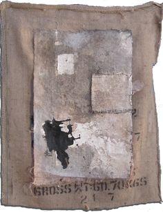 Lino Ricco arte: [ Stazione Ofantino / tempera, bitume, olio, gesso...