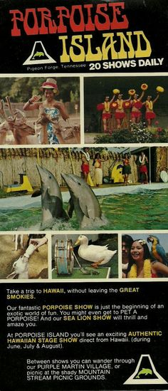 Porpoise Island Pamphlet - another lost Pigeon Forge favorite!