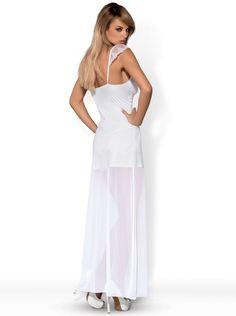 Obsessive Langes Partykleid Feelia www.lingerie4me.de/Party-Clubwear/Kleider/Obsessive-Langes-Partykleid-Feelia-weiss-inkl-String::2540.html #Reizwäsche #Dessous #Kleid #Lingerie4me #Partywearweiß