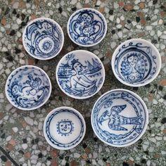 Porcelain salt bowls by Mike Levy