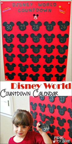 Disney World Countdown Calendar - A tangible way to build excitement for a Disney trip. This allows kids to see how many days are left before they go.