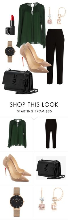 """Untitled #788"" by stylemirror ❤ liked on Polyvore featuring MICHAEL Michael Kors, The Row, Christian Louboutin, Yves Saint Laurent, Daniel Wellington and NARS Cosmetics"