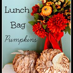 Lunch Bag Pumpkins