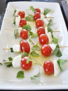 Grape Tomato and Fresh mozzarella