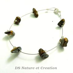 Chic ethnic bracelet brown tiger eye by DSNatureetCreation on Etsy www.etsy.com/shop/DSNatureetCreation