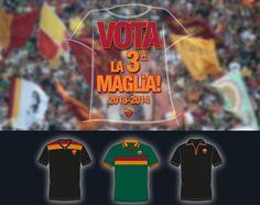 Torcedor poderá escolher a camisa 3 do Roma - http://www.colecaodecamisas.com/torcedor-podera-escolher-a-camisa-3-do-roma/