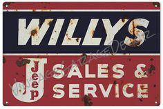 Vintage Style  Willys-Jeep  Sales and by VintageGarageDecor