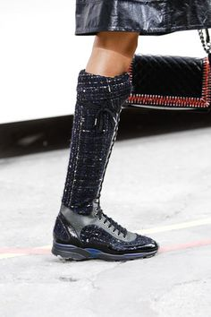 Love love love these, and interestingly a demonstration of brand heresy .... on Chanel Fall 2014 Ready-to-Wear Collection on Style.com: Atmosphere