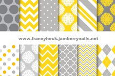 Upload this file to the Nail Art Studio to create the custom yellow and grey wraps. www.frannyheck.jamberrynails.net