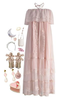 """""""New Year Gown"""" by louiseabunn ❤ liked on Polyvore featuring Chicwish, Dress My Cupcake, Dinosaur Designs, American Eagle Outfitters, Boohoo, Bamford, Valentino and Latelita"""