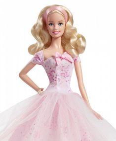 Birthday Wishes Barbie Doll  Caucasian