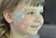 Snowflake / Frozen face paint