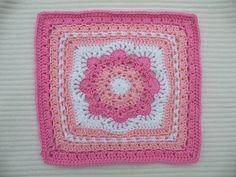 "Spring Fling 12"" square   . . . .   ღTrish W ~ http://www.pinterest.com/trishw/  . . . .   #crochet #granny_square"