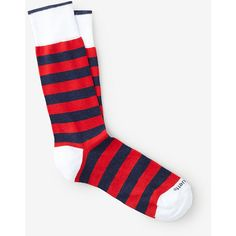 ETIQUETTE CLOTHIERS Rugby Stripes Sock ($24) ❤ liked on Polyvore