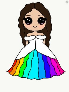 Cute Rainbow dress for a girl