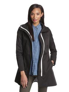82% OFF Kensie Women's Belted Long Jacket (Black)