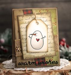 Warm Wishes card by Laurie Schmidlin for Paper Smooches - Warm Wishes die, Warm Hearts stamp set