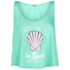 Wildfox Take Me To The Beach Top ($110) ❤ liked on Polyvore featuring tops, shirts, beach tops, scoop neck tank top, blue top, relax shirt and blue shirt