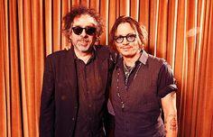Tim Burton and Johnny Depp Tim Burton Johnny Depp, Comic Books, Actors, Guys, My Love, Movies, Friends, Deep, Music