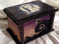 Gothic Jewelry Box Diy I found 'The Nightmare Before Christmas Trinket Box by KimKnots on Etsy' on Wish, check it out! Jack Skellington, Tim Burton, Jack The Pumpkin King, Corpse Bride, Jack And Sally, My New Room, Hallows Eve, Trinket Boxes, Origami