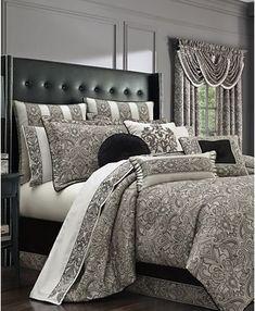 Queen Bedding Sets, Queen Comforter Sets, Luxury Bedding Sets, Modern Bedding, Silver Bedding, Damask Bedding, Cotton Bedding, White Bedding, Bed Linen Design