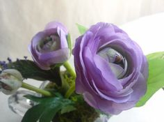 Sweet Silk Flowers Vintage Sugar Bowl Lavender by NauticoCreations, $20.00