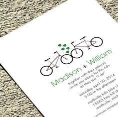 Wedding Invitation Bicycle Wedding Invitation -  Madison Deposit on Etsy, $33.99 AUD