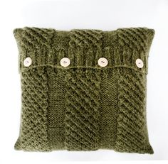 Knit pillow moss green color with alpaca wool size by pillowlink, $69.00