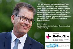 #Heforshe pic | Der Bundesminister für wirtschaftliche Zusammenarbeit und Entwicklung ...