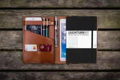 Leather Leuchtturm1917 A5 Notebook Cover - Brown - GalenLeather - 1