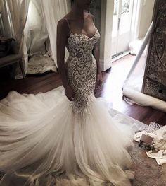 Beautiful wedding dress from Christine's fashion show