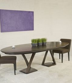 Buy Z Dining Table by Hellman-Chang - Made-to-Order designer Furniture from Dering Hall's collection of Mid-Century / Modern Dining Room Tables