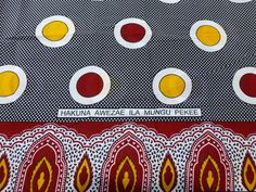 African Fabrics Kanga Khanga Sarong /Fabrics For Dress making/Craft Making Fabrics/ Kanga Lesso/Tissues Africa/Kanga Fabrics/Cotton Fabrics African Proverb, Craft Making, African Fabric, Piece Of Clothing, Tanzania, Proverbs, Dress Making, Crafts To Make, Printing On Fabric