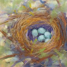 Items similar to Bird Nest with Eggs Original Pastel Painting by Karen Margulis psa on Etsy Illustrations Pastel, Pastel Artwork, Feather Painting, Bird Drawings, Decoupage, Bird Art, Art For Sale, Original Paintings, Original Art