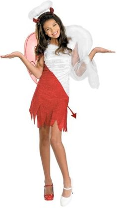 awesome Disguise Sassy Scene Heavenly Devil Deluxe Tween Costume