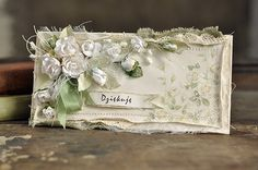 A beautiful rose card made with the Vintage Wedding collection