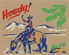 Vintage Cowboy Christmas 8 by shelece, via Flickr